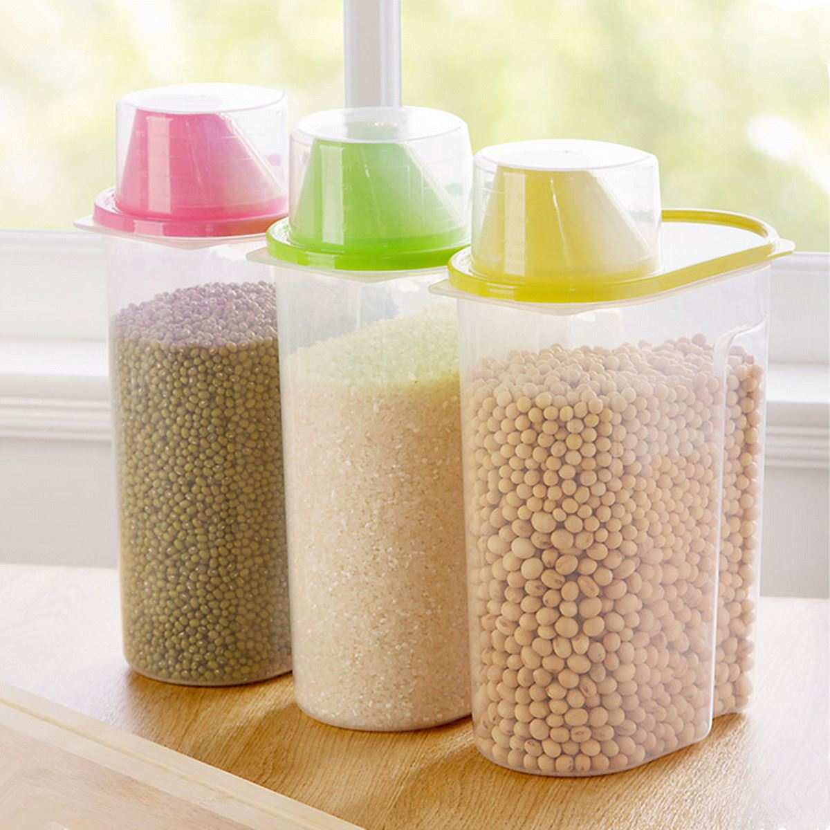19L Food Cereal Grain Bean Storage Container Box Plastic Kitchen
