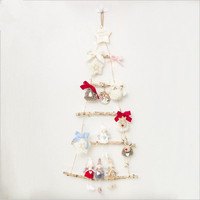 New Christmas Pendant Drop Ornaments Christmas Wooden Lighting Pendants Cute Doll DIY Kits Christmas Decorations For Home Tree