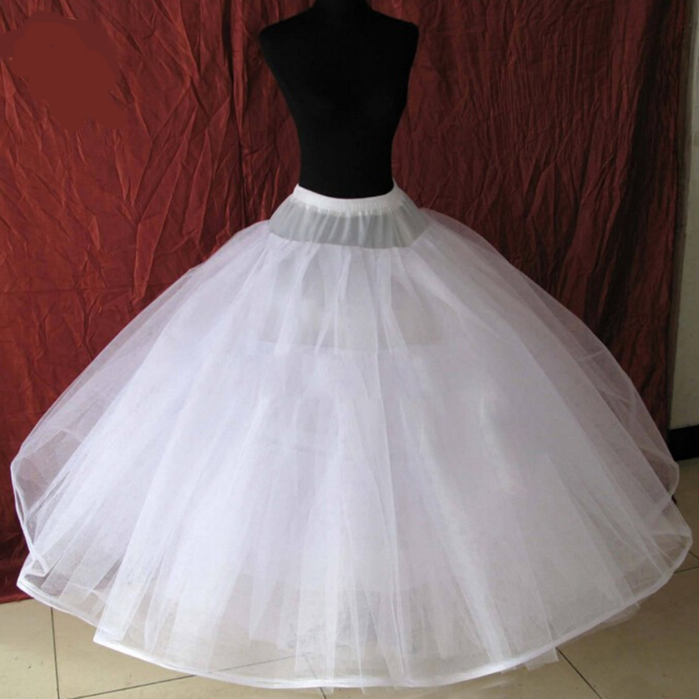 8 Layers Tulle Underskirt Wedding Accessories Chemise Without Hoops For A Line Wedding Dress Wide Plus