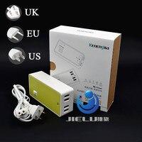 Frete grátis 5 V 4A Completo Portas USB universal de Parede Celular telefone Carregadores Adaptadores de Energia AC para o telefone EUA/EU/AU/UK Plug pad telefone