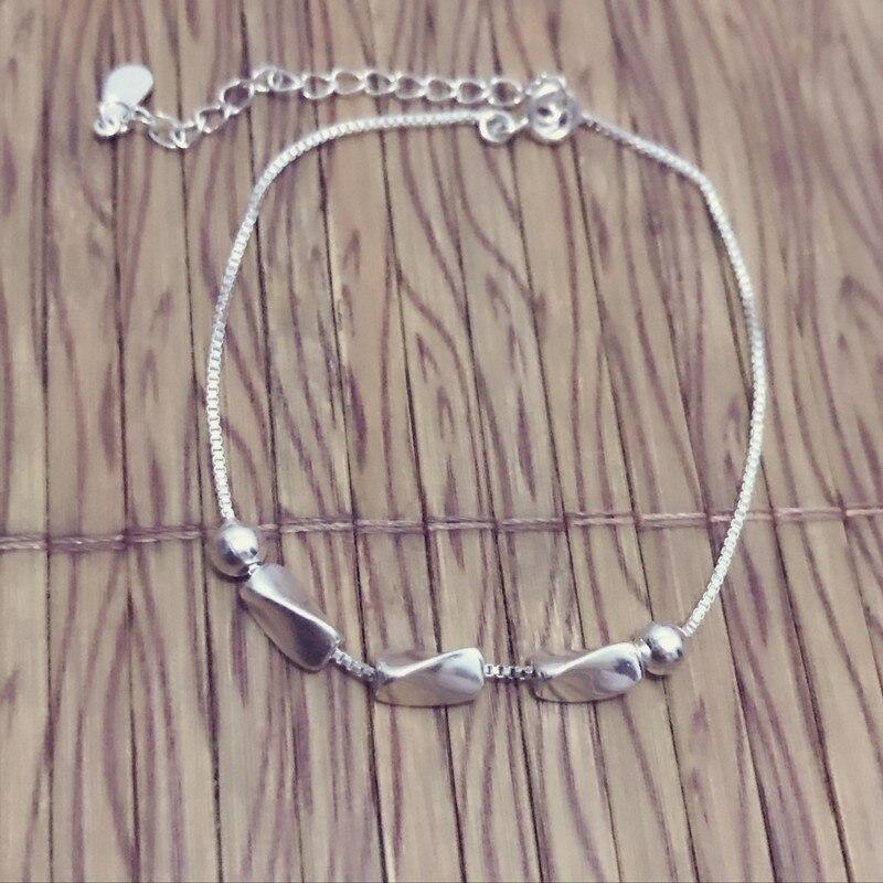 New 925 sterling silver bracelet female acacia beanson bracelet bracelet silver student Valentine's Day gift JCS15