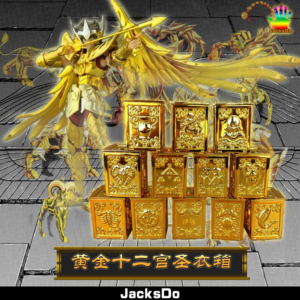 JacksDo 12 Gold Saints Suitcase God Cloth Box Saint Seiya Myth Constellation Box Limited Edition