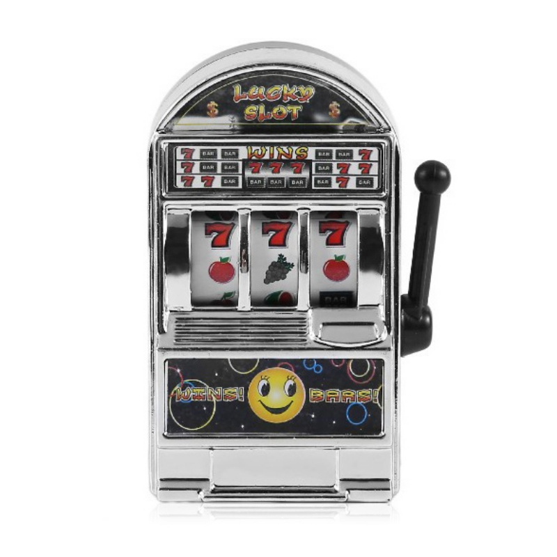 Mini Casino Jackpot Fruit Slot Machine Money Box Game Toy For Kids Adult Decompression Toys Gold/Sliver Slot Machine Toy