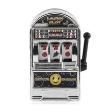 Mini Casino Jackpot Fruit Slot Machine Money box Game Toy For Kids Adult Decompression Toys Gold/Sliver Slot machine toy