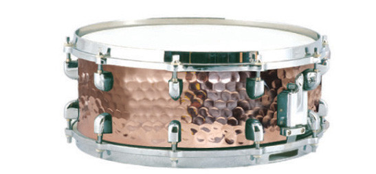 14*5.5 Hammered Copper Snare Drum Metal Drums musical instrument henlucky advanced packboard snare drum marching drums orange color musical instrument toca cajon baquetas maple wood drum sticks