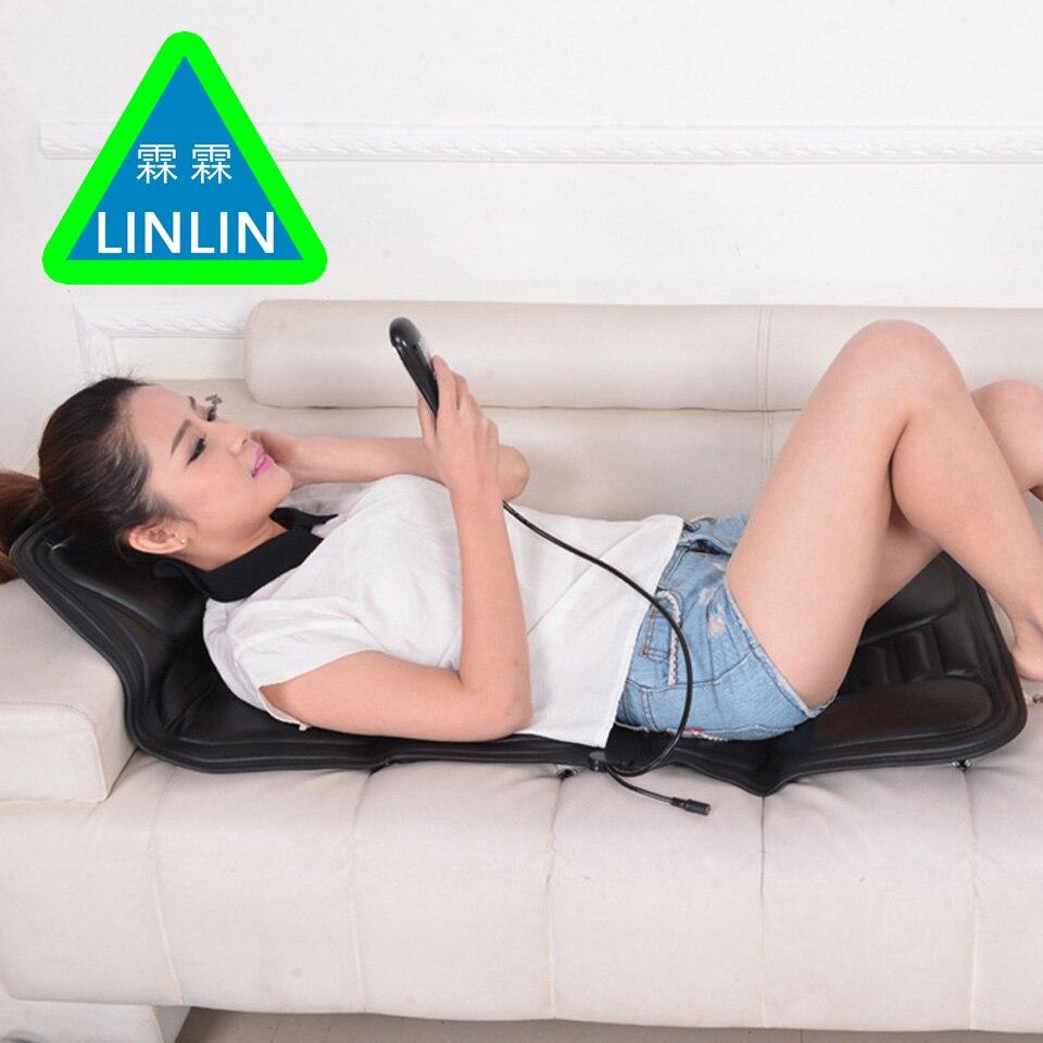 LINLIN Voiture Home Office Plein-Corps Retour Cou Lombaire Électrique Chaise De Massage Relaxation Pad Siège Chaleur Vibrant Matelas Thérapie lit