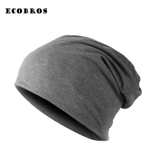 72a167143cb44b 2019 Winter warm hats for women casual stacking knitted bonnet caps men hats  solid color Hip