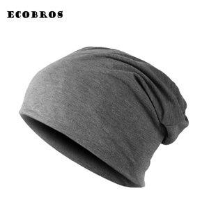Image 1 - Зимние теплые шапки для женщин 2020, повседневный стиль, вязаный берет, мужские шапки, одноцветные, в стиле хип хоп, Skullies, унисекс, женские шапки