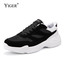 YIGER New men sports shoes breathable big size male sneakers lace-up man casual light mens leisure  319