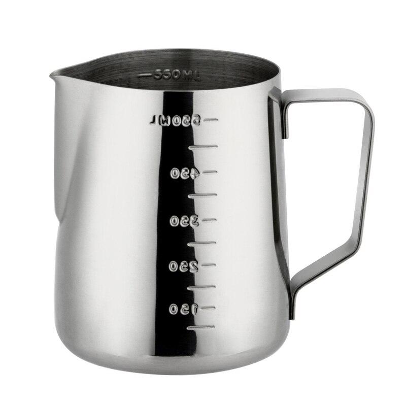 Jarra de café Espresso de acero inoxidable Rokene en la cocina jarra de café con leche y leche