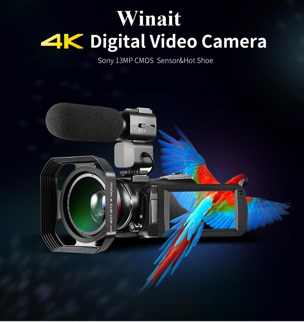 Ordro HDR-AC3 Webcast IPS écran caméra clair 4K grand Angle conférence mariage DV Wifi PC C numérique télescope caméra lentille