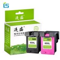 2pcs Set 60XL Compatible Cartridge For HP 60 60 XL For HP Deskjet D2530 D2545 F2430