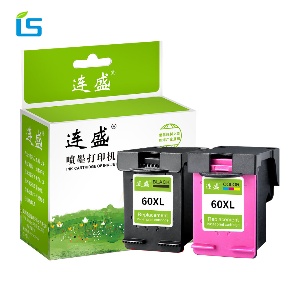 2pcs/set 60XL Refilled Ink Cartridge Replacement for HP 60 XL for Deskjet D2530 D2545 F2430 F4224 F4440 F4480 ENVY C4650 C4680 free shipping compatible ink cartridge for hp 60xl bk cc641wn and for hp60xl c4635 color cc644wn c4640 c4650 c4680 printe