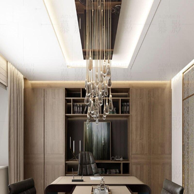 T Gold wassertropfen Blase Kristall Kreative Pendelleuchte Europäischen stil Luxus Led-lampen Glas Innenbeleuchtung Restaurant