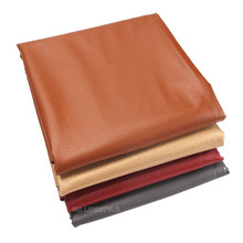 Soft leather Big Lychee Pu Leather Faux embossed Nice PU for Sewing, artificial 25*34cm