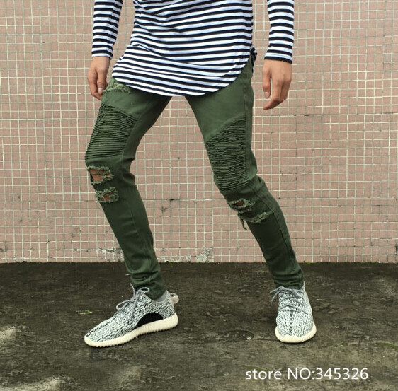 Collection Olive Green Jeans Mens Pictures - Reikian
