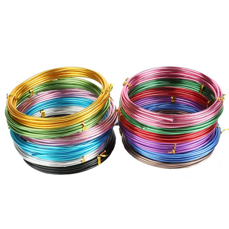 3-10meter 1/1.5/2/2.5mm Round Soft Aluminium Wire cord For Bracelet Necklace Making Metal Beading Wire DIY Jewelry Accessories