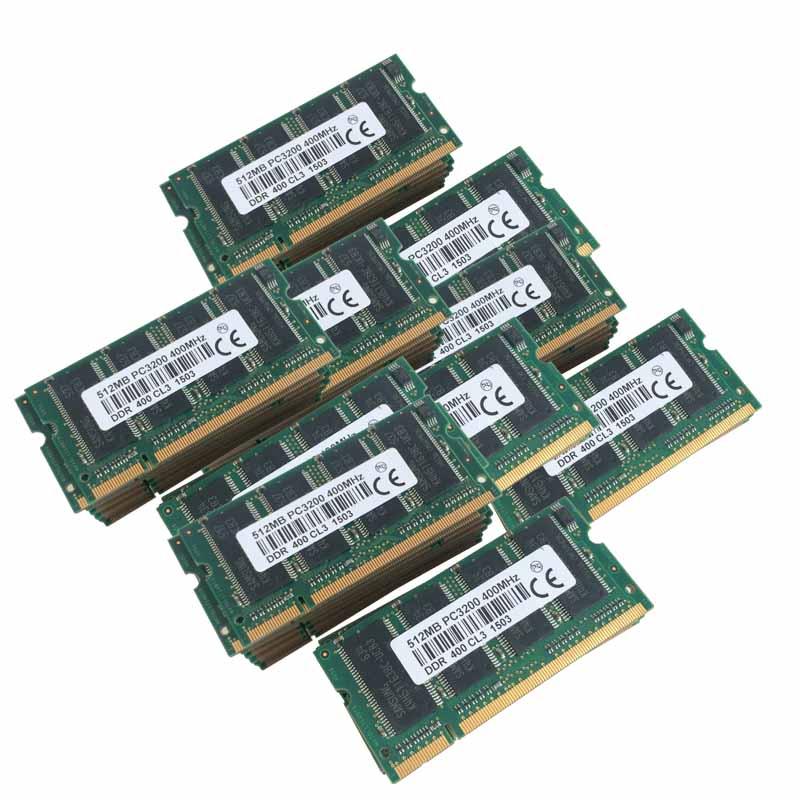 100pcs 100x512MB PC3200 400Mhz 400MHZ 200PIN Low Density DDR DDR1  Laptop memory Non-ECC RAM NEW Free shipping