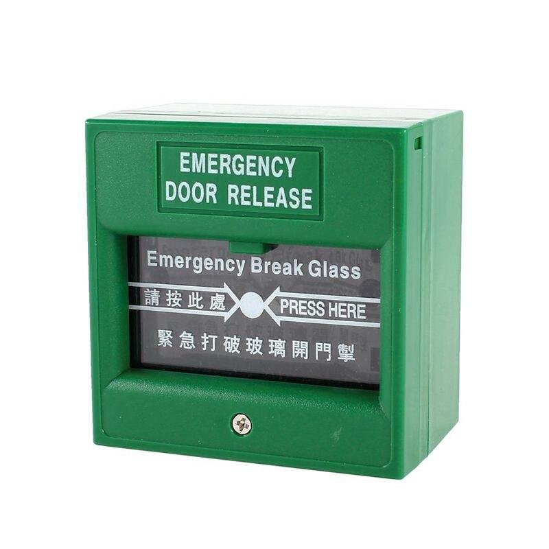 Green Security Alarm Fire Break glass Button Emergency Door ReleaseGreen Security Alarm Fire Break glass Button Emergency Door Release