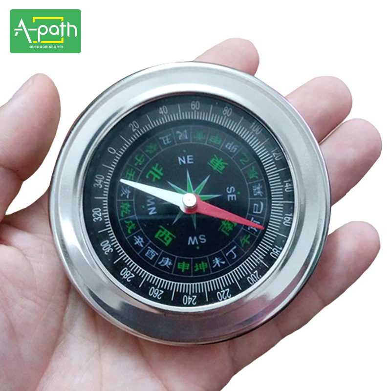 Outdoor travel Large stainless steel compass handheld compass needle