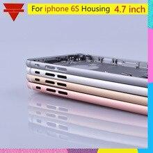 Oryginalny jakości dla iPhone 6S tylna obudowa baterii tylne drzwi Case wymiana środkowej części obudowy dla USA lub Euro wersja