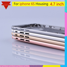 """איכות מקורית עבור iPhone 6S חזור שיכון סוללה כיסוי אחורי דלת מקרה התיכון מארז החלפת ארה""""ב או אירו גרסה"""