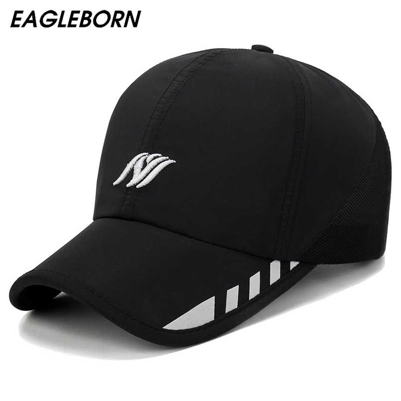 EAGLEBORN Baseball Cap Mens Hat Spring Custom Hats Snapback Cowboy Man  Black Brand 2018 New Designer Luxury Brand 1992f3cc0385