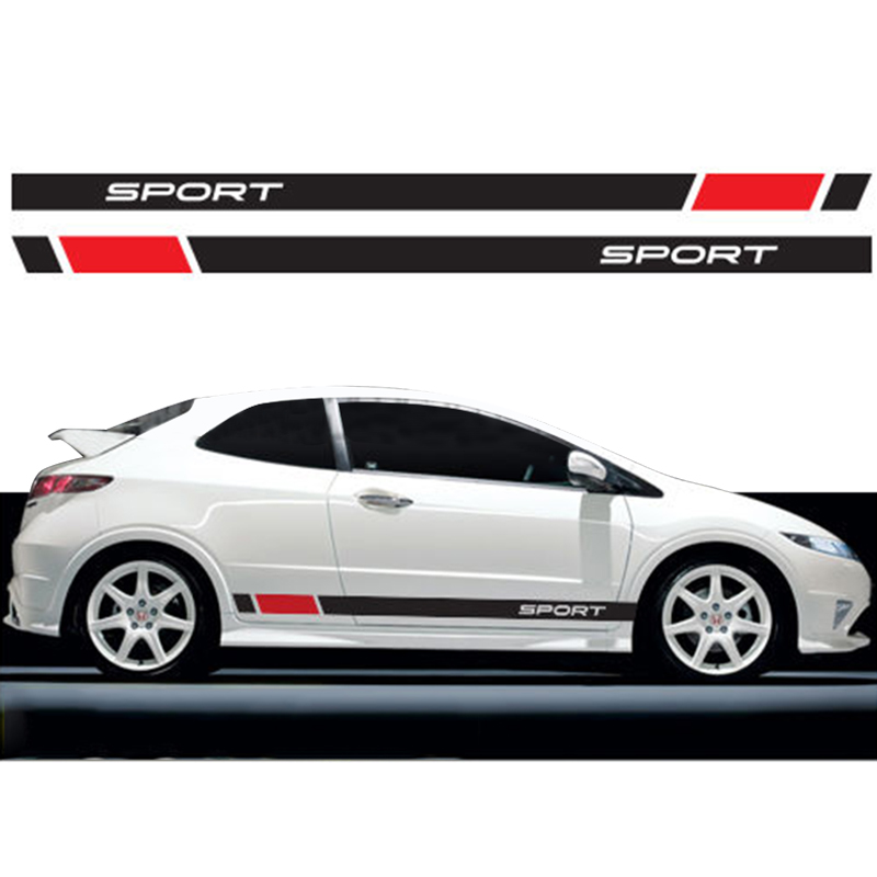 Gentle Automobile For Honda Racing Stripes Graphics Stickers Decals Civic Type R S Car Styling Da-870u Car Stickers