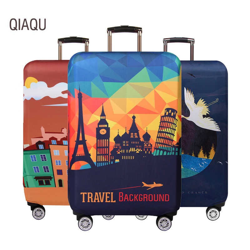 Thicker Travel Suitcase Protective Cover Luggage Case Elastic Luggage Dust Cover Apply to 18-32 Inch Suitcase Travel Accessories