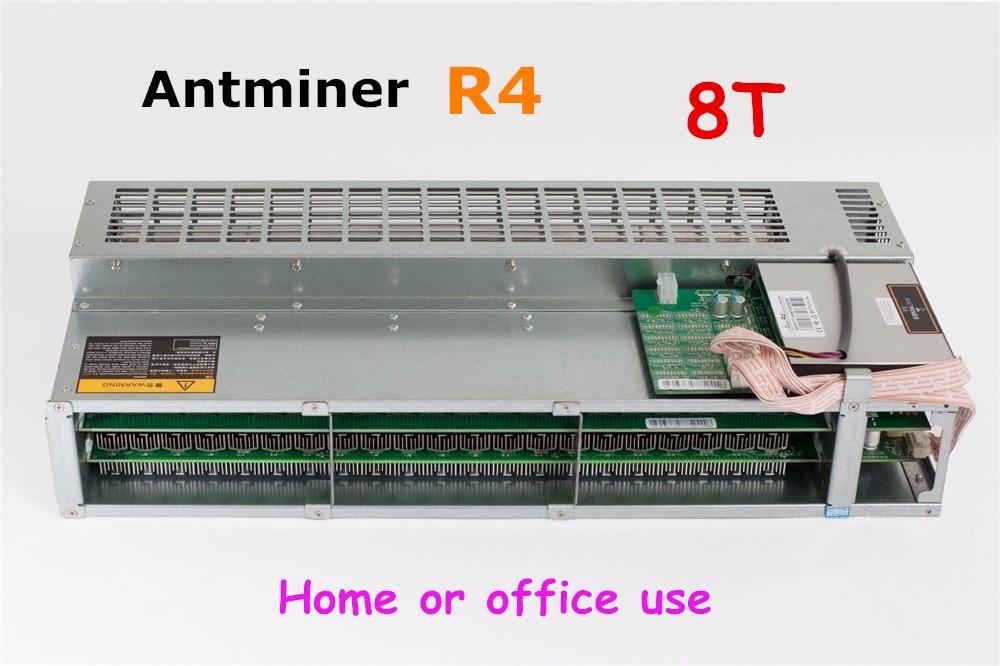 Utilisé Antminer R4 8TH/s BTC BCH mineur silencieux économique que S9 S11 S17 T9 + T17 pour le bureau ou la maison