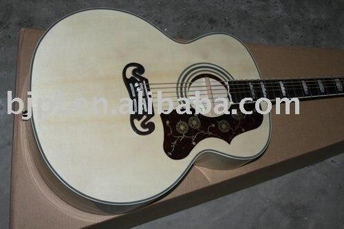best selling Acoustic Guitar NEW SJ200 Style Standard Veneer Acoustic Guitar 6 Strings Custom OEM Musical Instruments