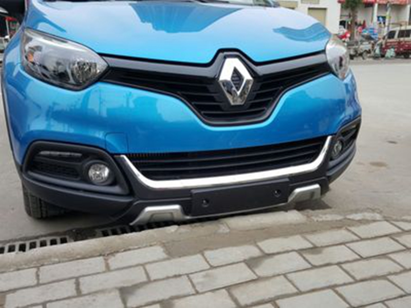 Car Accessories ABS Plastic Exterior Front Bumper Skid Protector Guard Plate Bumper Cover Trim For Renault Captur 2014 2015 2016 hot sale abs chromed front behind fog lamp cover 2pcs set car accessories for volkswagen vw tiguan 2010 2011 2012 2013