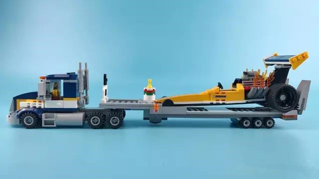 City Great Vehicles Dragster Transporter Building Blocks Sets Bricks Kids Model Kids Toys Compatible Lepins Figures lego city great vehicles буксировщик автомобилей 60081