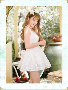 Image 4 - Princess adorable Vestido de lolita vestidos con hombros descubiertos para princesa C16AB6114, Verano