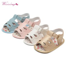 5 Styles Newborn Baby Girl Sandals Summer Newborn Casual Fashion Baby Girl Children Sandals PU butterfly knot Shoes Baby Sandals(China)