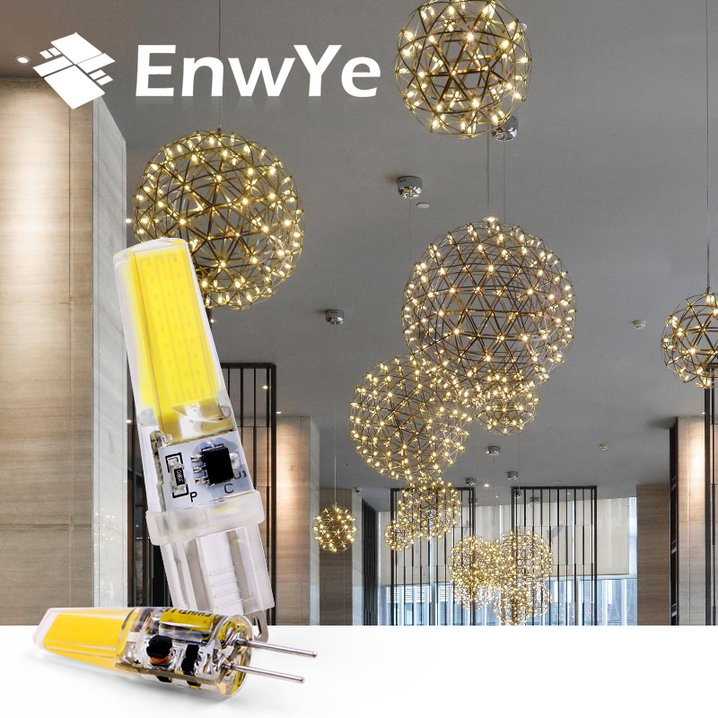 EnwYe LED G4 G9 Lamp Bulb AC 12V 220V 3W 6W COB SMD LED Lighting Lights replace Halogen Spotlight Chandelier iminovo 20 pack e14 led light bulb ac 220v 6w 2835 smd ceramics spotlight replace halogen spotlight chandelier warm cool white