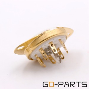 Image 4 - GD PARTS פח זהב מצופה 8pin B8G Loctal קרמיקה ארובות צינור 5B254 4P1S 7N7 C3G תחתון מארז הר בציר מגבר DIY