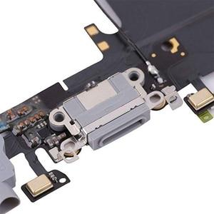 Image 5 - 1pcs USB טעינת נמל Dock Connector להגמיש כבל + מיקרופון + אוזניות אודיו שקע החלפת חלק עבור iphone 6 טעינה להגמיש