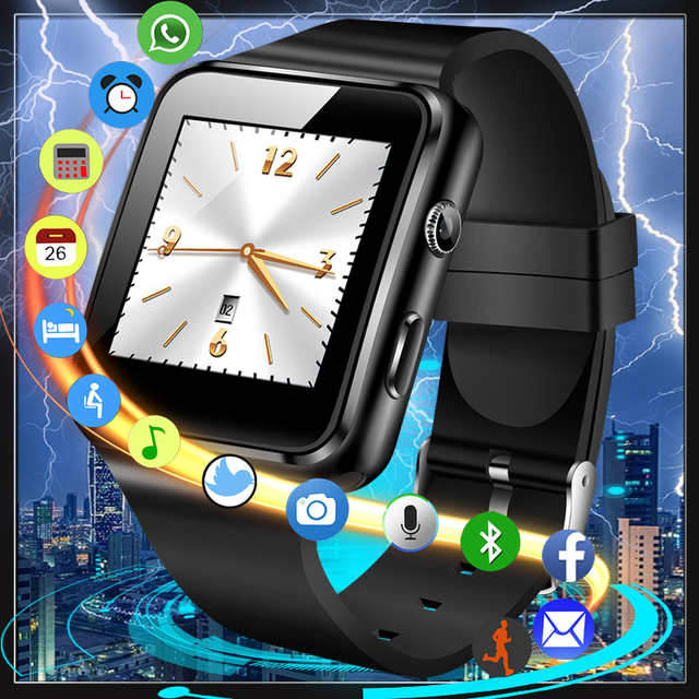 US $11 11 65% OFF|2018 Top Bluetooth Smart Watch Sport Pedometer Smartwatch  Men Woman Camera Support SIM Card Facebook Watch Men for Android IOS-in