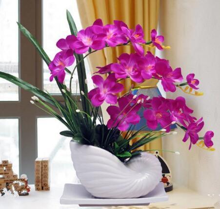 Phalaenopsis flower simulation package plastic flower silk ...
