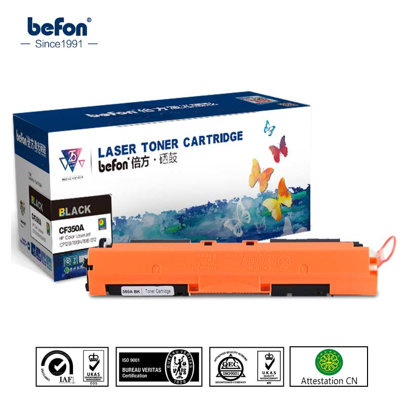 Befon cf350a 350 35a cf351a cf352a color toner cartridge kompatibel für hp130a...