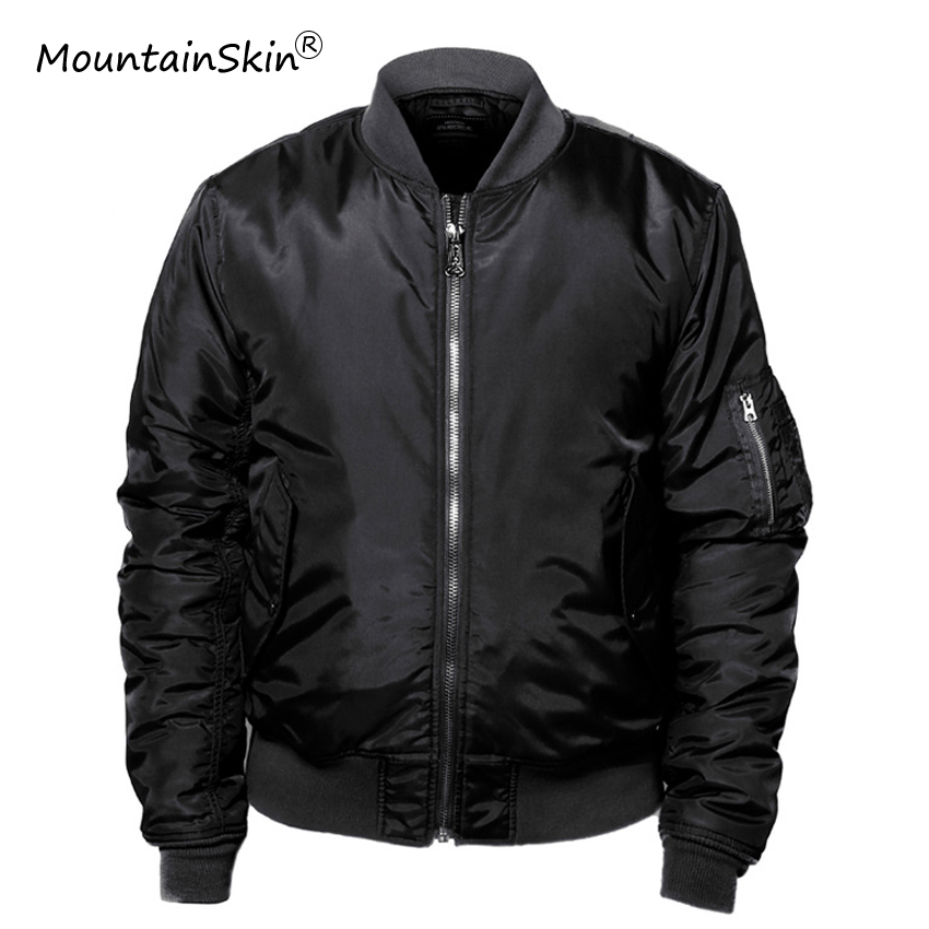 Mountainskin Men's Winter Warm Thick   Parkas   Military Thermal Fitness Jackets Casual Bomber Jacket Brand Outerwears LA729