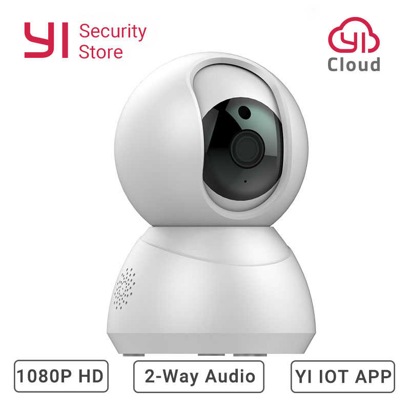 Indoor Security Speed Dome Camera 1080P Powered By YI Smart Home Cam Motion Detection Night Vision 2-Way Audio YI loT APP Cloud