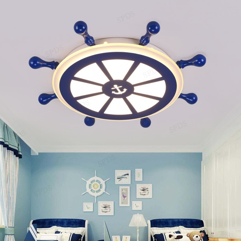 Modern Wrought Iron Acrylic LED Home Bedroom Ceiling Light Indoor Sailor Surface mounted lamparas de techo Ceiling Light modern acrylic wrought iron dish impossible series interior lighting lamparas de techo ceiling light fixtures led surface mounte