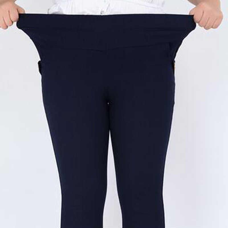 Новое поступление, женские штаны размера плюс 6XL, эластичные штаны с высокой талией, женские длинные штаны, повседневные брюки, модные обтягивающие брюки-карандаш