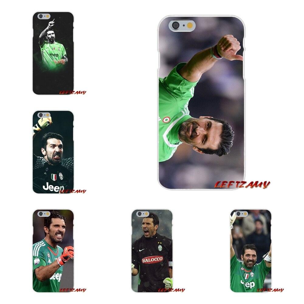 Gianluigi Buffon Juventus Soccer Slim Silicone phone Case For iPhone X 4 4S 5 5S 5C SE 6 6S 7 8 Plus