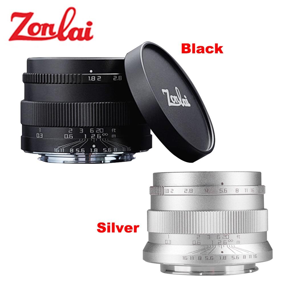 Zonlai 22mm F1.8 Manual Prime Lens for Sony E-mount for Fuji for Micro 4/3 a6300 a6500 X-A1 X-A2 X-M1 G1 G2 G3 Mirrorless Camera 35mm f 1 6 c mount lens for aps c sensor sony e nex 7 nex6 nex5t 5r 3 a5100 a6000 a5000 a3000 a6300 a6500