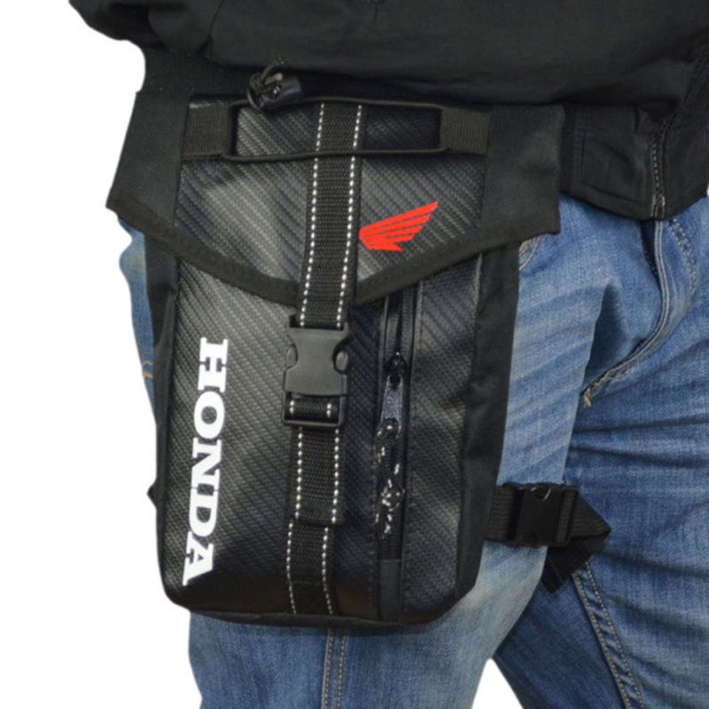 Hombres impermeable Oxford muslo Drop cintura pierna bolsa motocicleta militar viajes celular/teléfono móvil monedero Fanny paquete