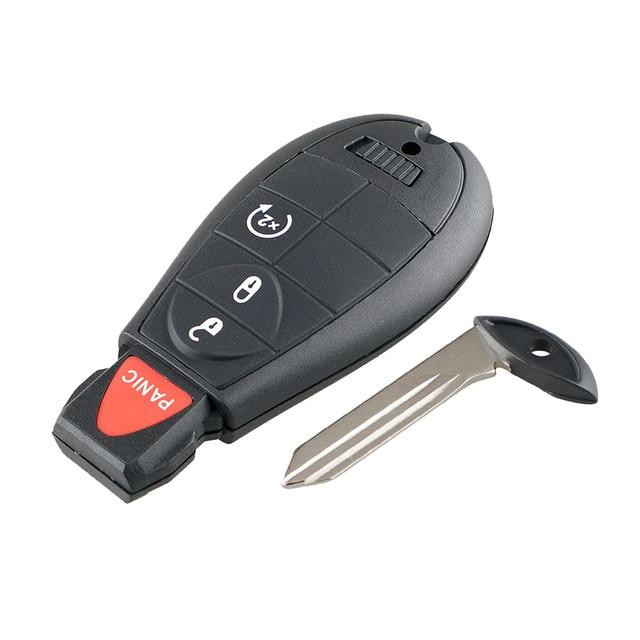 Фото bhkey 3 + 1 кнопочный дистанционный автомобильный ключ для dodge цена