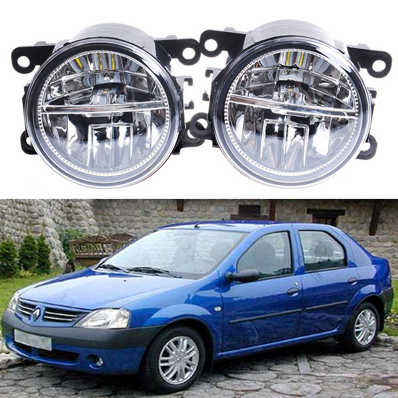 For Renault LOGAN Saloon LS 2004-2015 Car styling Front bumper LED fog lights 10W high brightness fog lamps 1set  led front fog lights for dacia logan saloon ls 2004 2011 2012 car styling bumper high brightness drl driving fog lamps 1set